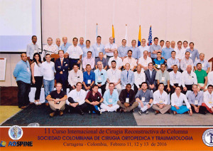 The attendees of the Colombian Society for Orthopedic Surgery and Traumatology SCCOT