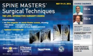 Spine Master's May 19-21, 2016 Washington University
